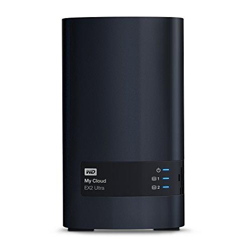 WD My Cloud EX2 Ultra NAS Festplatte 8 TB (zentraler Netzwerkspeicher, einfache Installation, zwei Laufwerkschächte, mobiler Zugriff, automatische Backups)