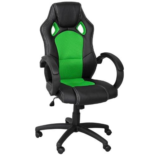 Premium Sportsitz Chefsessel Bürostuhl Racer schwarz/grün 59811