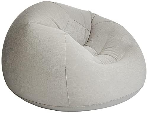 Intex Beanless Bag Chair Aufblasmöbel - Sitzsack - 1.14 m x 1.14 m x 71 cm, Grau