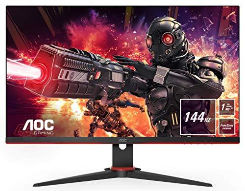 AOC Gaming 24G2AE - 24 Zoll FHD Monitor, 144 Hz, 1ms, FreeSync Premium ( 1920x1080, HDMI, DisplayPort) schwarz/rot