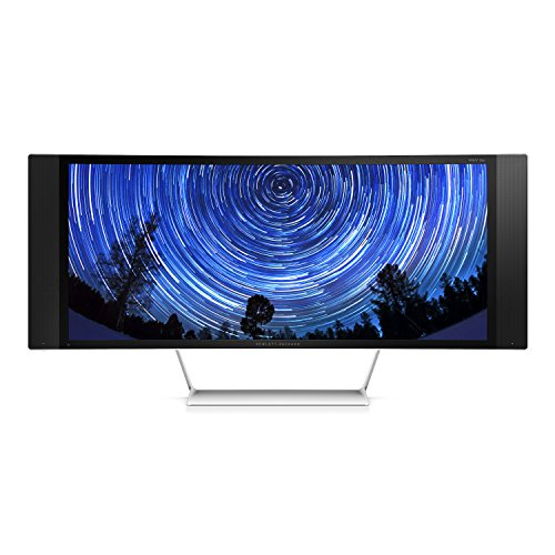 HP Envy 34c K1U85AA Curved Media Monitor 86,36 cm (34 Zoll) (HDMI, USB, 8ms Reaktionszeit, Wide Quad HD, MHL, DisplayPort, gebogener Bildschirm)