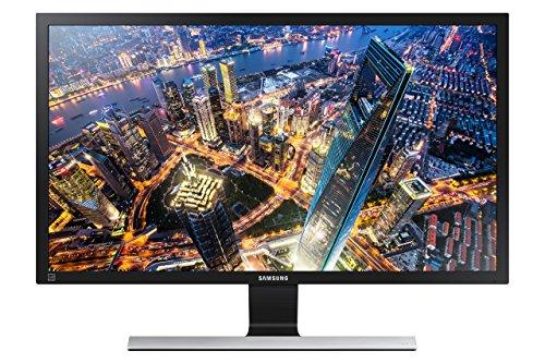 Samsung U28E590D Monitor (HDMI, 28 Zoll, 71,12cm, 1ms Reaktionszeit, 60Hz Aktualisierungsrate, 3840 x 2160 Pixel) schwarz/silber